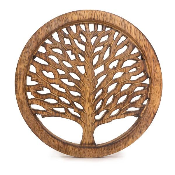 "Topf-Untersetzer Holz ""Tree of Life"""