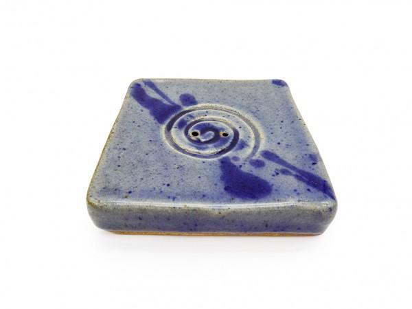 Räucherstäbchenhalter Spirale blau