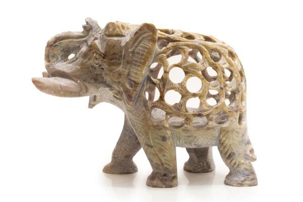 Teelichthalter Elefant, Speckstein