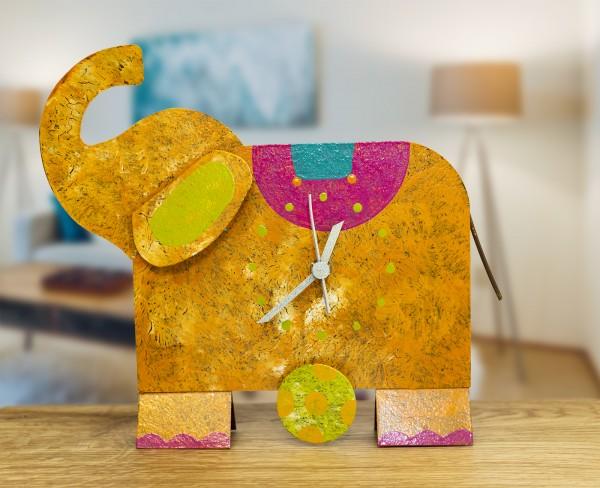 Standuhr Elefant