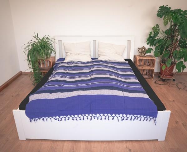Tagesdecke / Tischdecke Baumwolle, violett