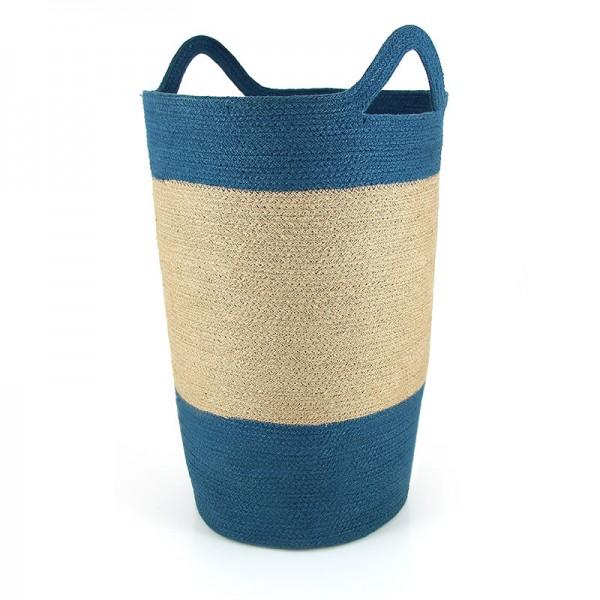 Wäschekorb Jute, blau