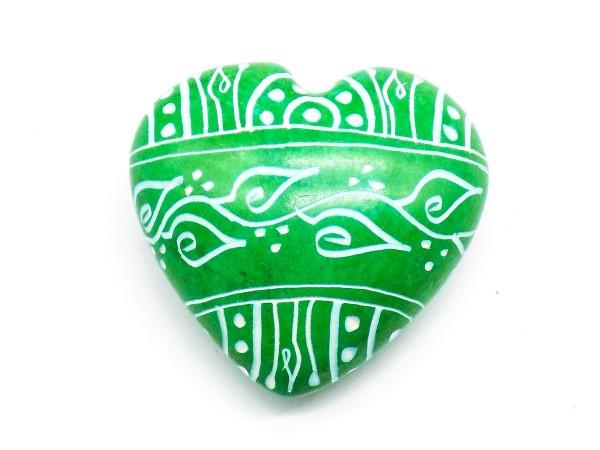 Speckstein-Herz, grün