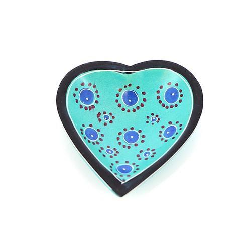 Räucherstäbchenschale Herz blau