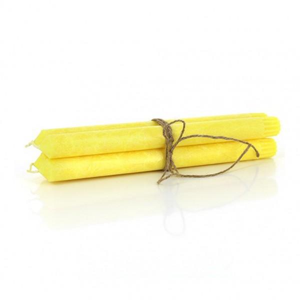 Stabkerzen 4er Set, gelb