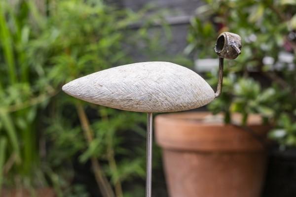 Steckvogel auf Stange, Serpentinstein