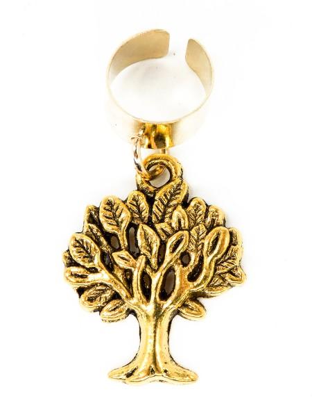 """Anhänger """"Baum"""" mit verstellbaren Verschluss, golden"""