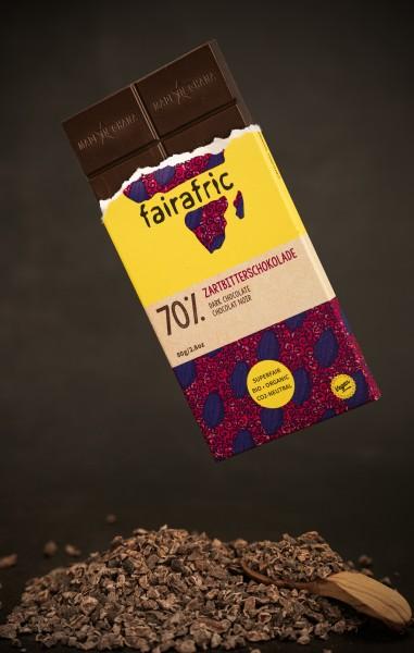fairafric Bio Zartbitterschokolade 70% 80g