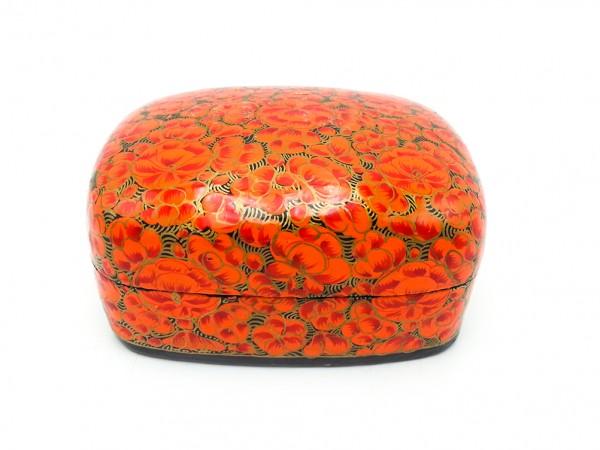 Schmuckdöschen Blumenmuster, rot