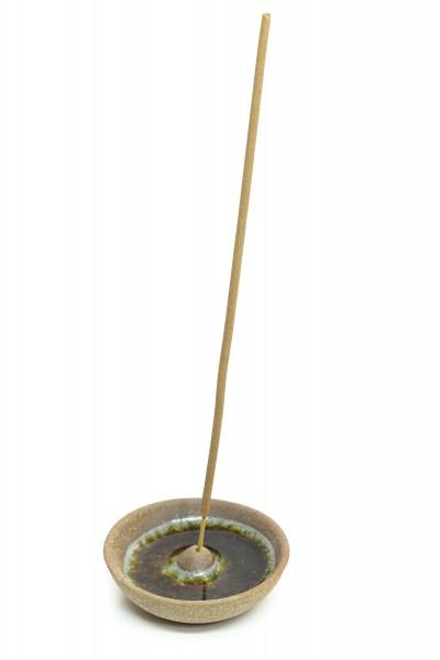 Räucherstäbchenhalter aus Ton, rund