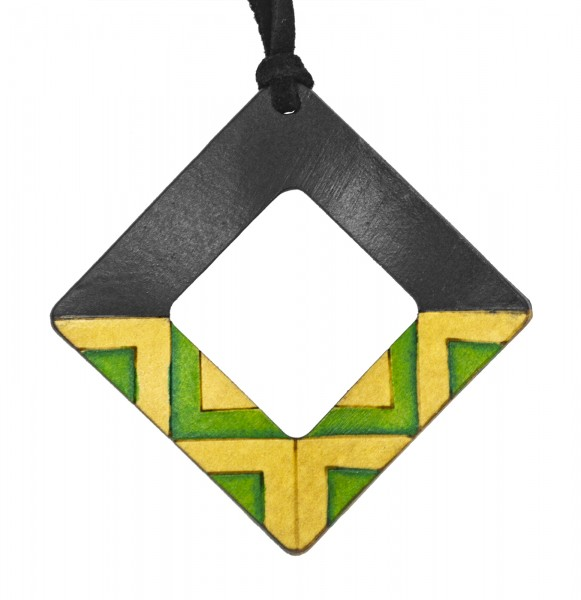 Halskette geometrisch grün
