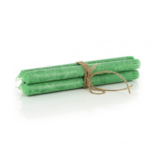 Stabkerzen 4er Set, grün