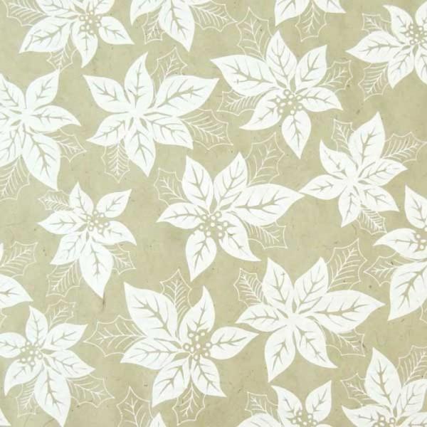 handgeschöpftes Geschenkpapier, Euphorbia braun