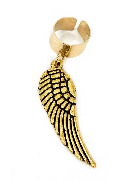 """Anhänger """"Flügel"""" mit verstellbaren Verschluss, golden"""