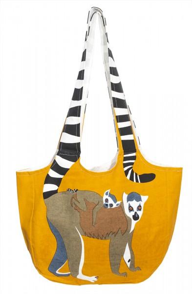 Fair Trade Einkaufstasche Lemur