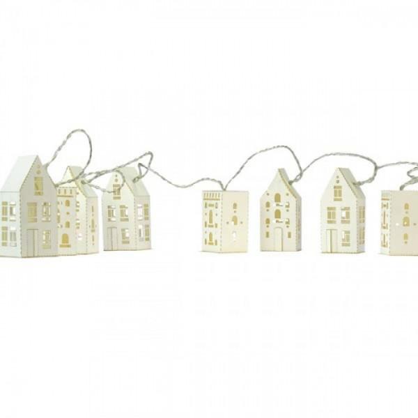 Lichterkette Häuser