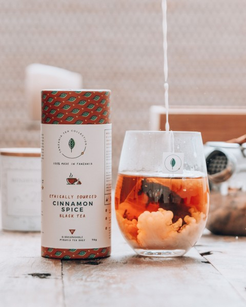 Kazi Yetu Cinnamon Spice Black Tea, 70g