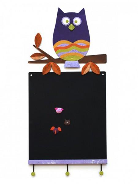 Wandtafel Eule, violett