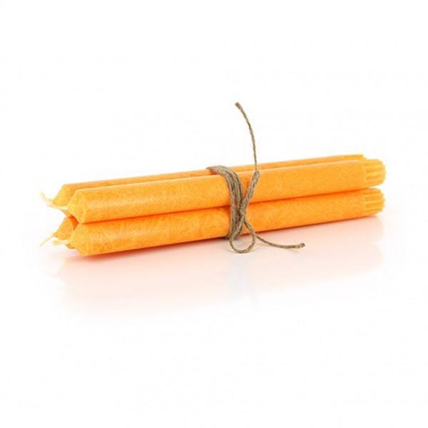 Stabkerzen 4er Set, orange