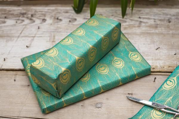 Geschenkpapier edel grün
