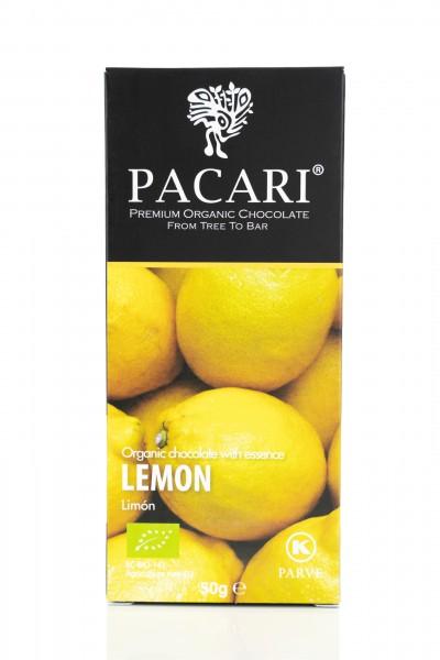 Pacari Bio Schokolade Zitrone, 50g