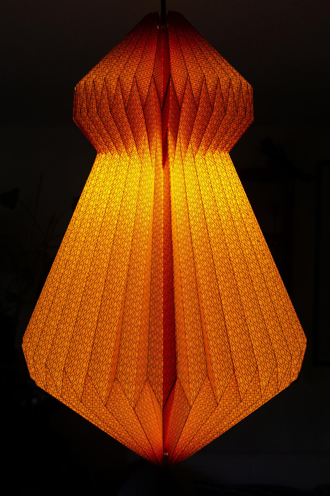 lampenschirm papier almas neon orange fair trade. Black Bedroom Furniture Sets. Home Design Ideas