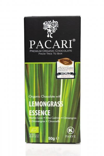 Pacari Bio Schokolade Zitronengras, 50g