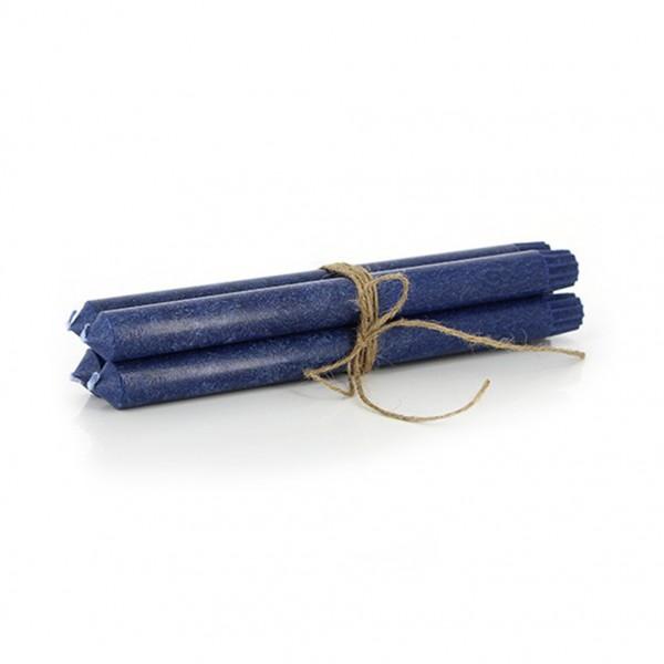 Stabkerzen 4er Set, dunkelblau