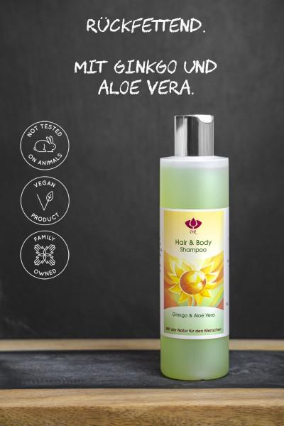 Dorith Kosmetik Hair & Body Shampoo Ginkgo & Aloe Vera, 250ml