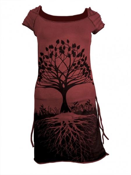 Kleid Cut-Out mit Baummotiv, rot