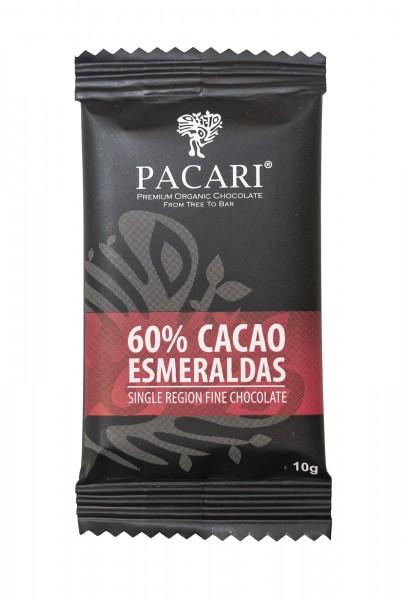 Pacari Roh Schokolade Esmeraldas Mini 60%