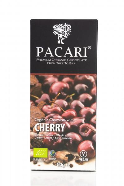 Pacari Bio Schokolade Kirsche, 50g