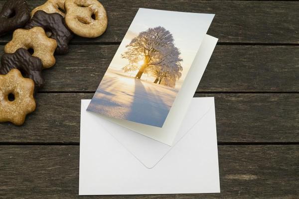 Weihnachtskarte Winterstimmung mit Umschlag