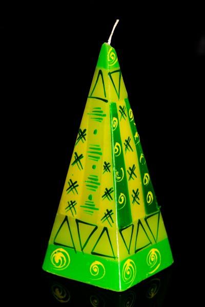 Pyramidenkerze Lemon Twist, groß