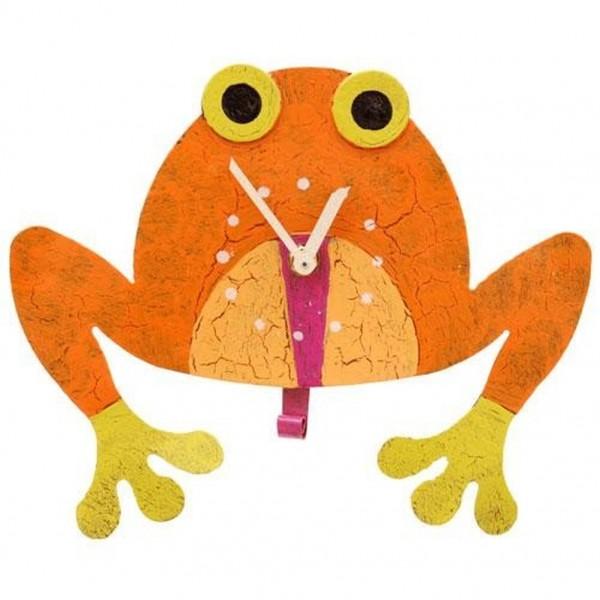 Wanduhr Frosch, orange