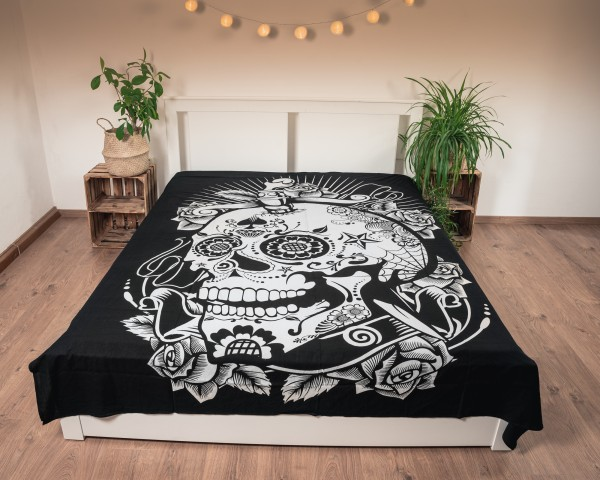 Wandtuch Totenkopf, Baumwolle