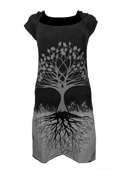 Kleid Cut-Out mit Baummotiv