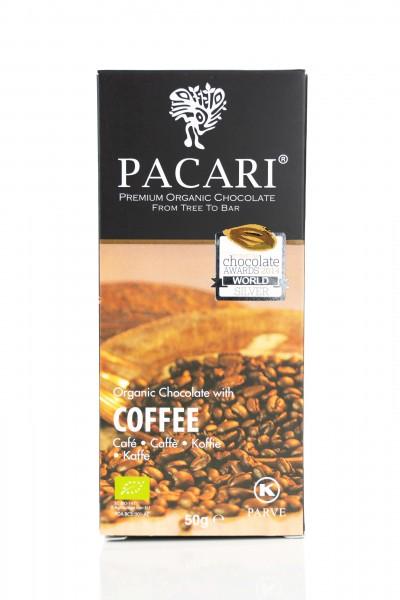 Pacari Bio Schokolade Kaffee, 50g