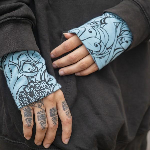 Arm Stulpen blau schwarz