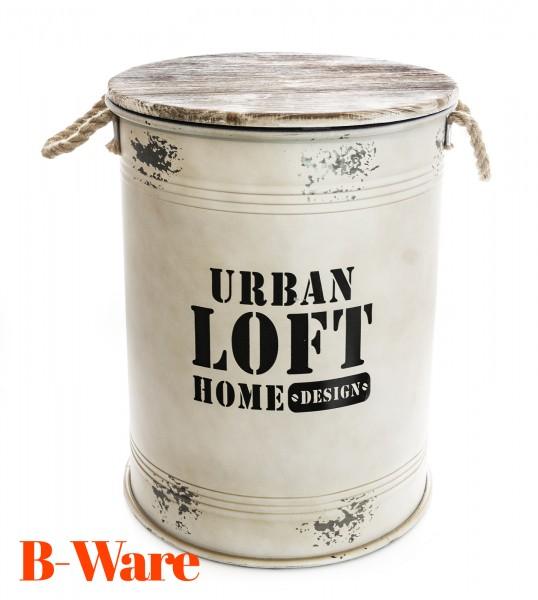 B-Ware Urban Loft Sitztonne mit Stauraum weiß L