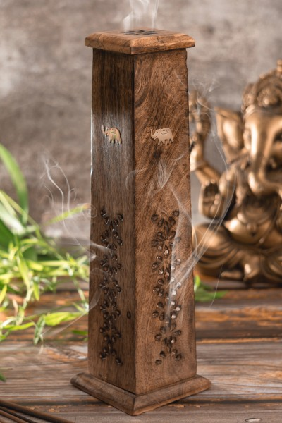 Räucherturm konisch, Holz