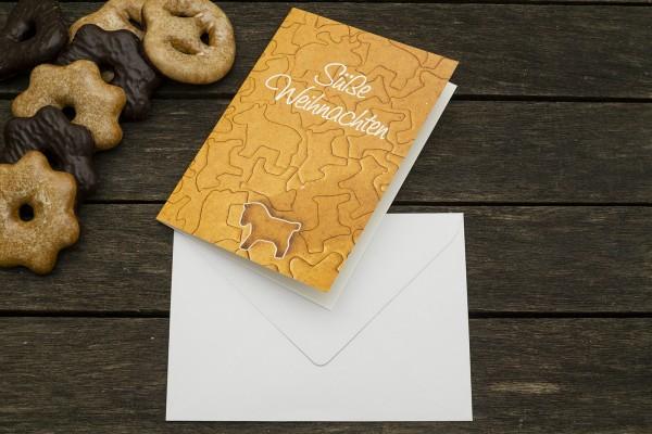 Grußkarte Süße Weihnachten mit Umschlag FSC