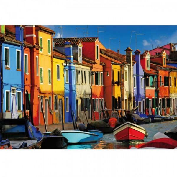 Grußkarte Häuser in Venedig