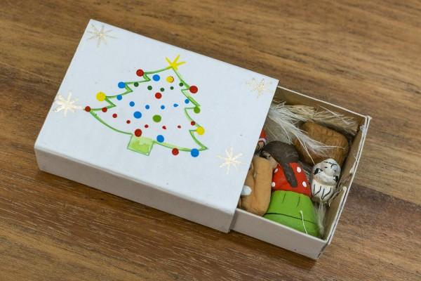 Weihnachtsdeko Tischdeko Krippe