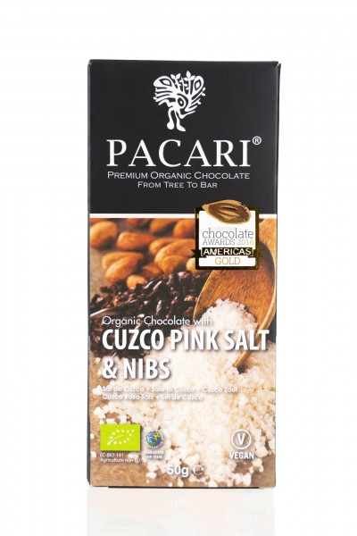 Pacari Bio Schokolade Cuzco Salz & Nibs, 50g