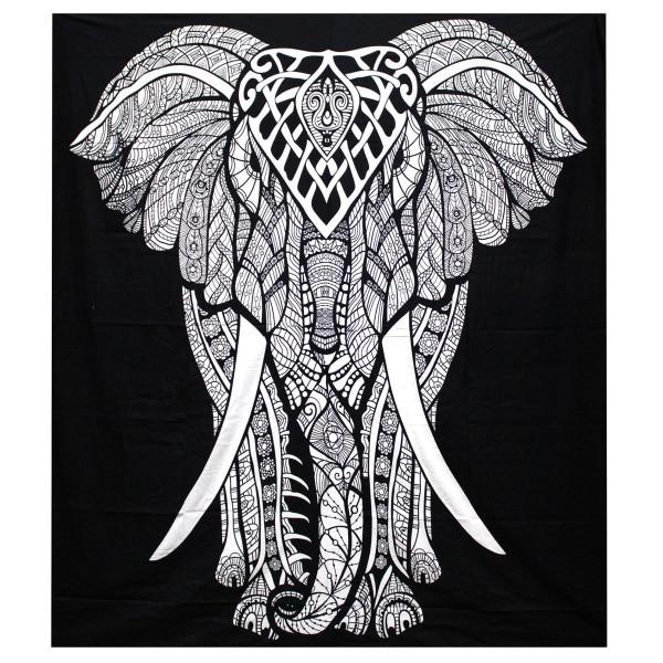 Wandtuch Elefant, Baumwolle