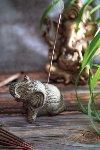 Räucherstäbchenhalter Elefant, Sandstein