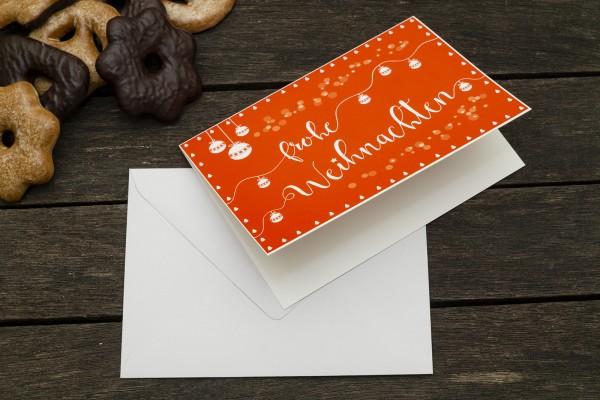Grußkarte mit Umschlag Frohe Weihnachten