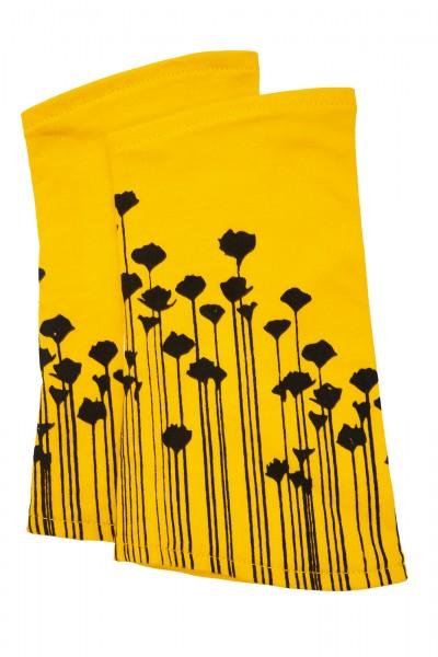Armwärmer Baumwolle gelb