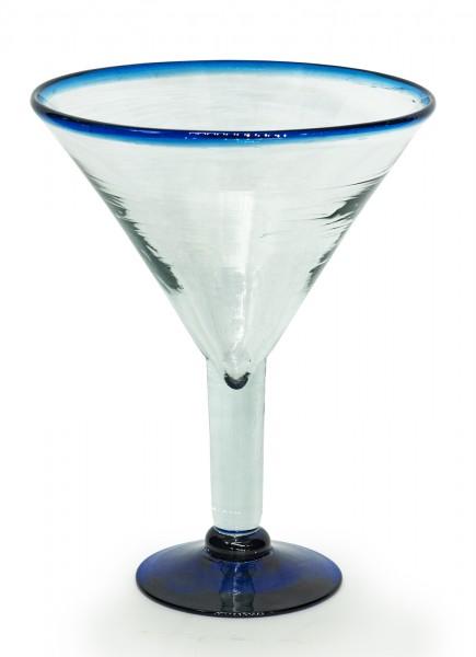 Sektschale Glas blau